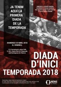 cartell Diada inici temporada 2018